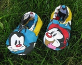 SALE - Cloth Baby Shoes - Animaniacs