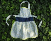 Domestic Diva Toddler/Girls Apron - Upcycled Vintage Fabric - SALE