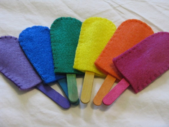 Felt Popsicles Color Match Game - Waldorf/Montessori Learning Tool