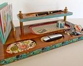 Office Vintage Desk Organizer/ Valet/ Caddy