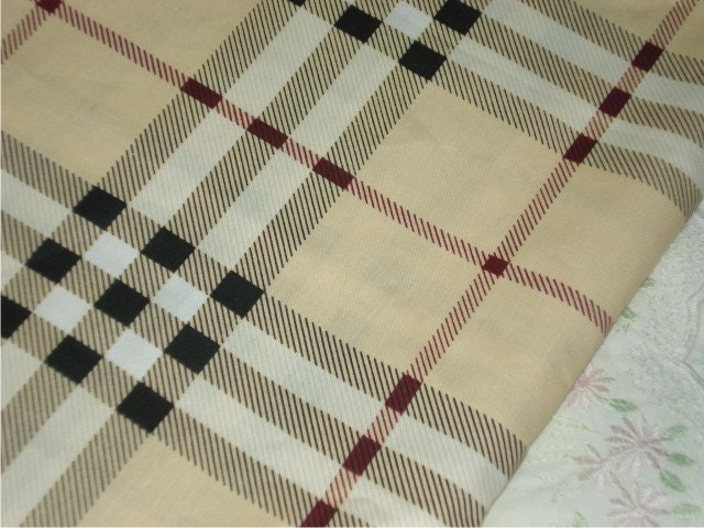 Sale burberry inspired plaid fabric for Fabric material for sale