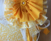 Shredded Flower Ring Pillow in Buttercup- Made to Order