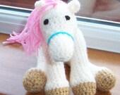 cream Pony  Hand crocheted toy