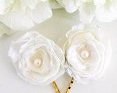 Narcissus bloom - 2 hair pins