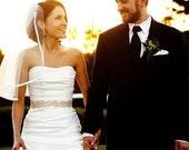 wedding dress Crystals sash - beaded bridal sash