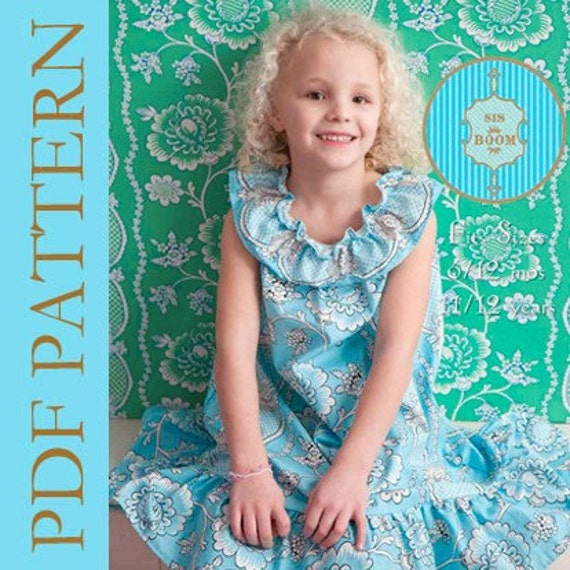 Sis Boom Cathy Dress/Top Pattern with Scientific Seamstress Pattern and Instructions, PDF E-Book