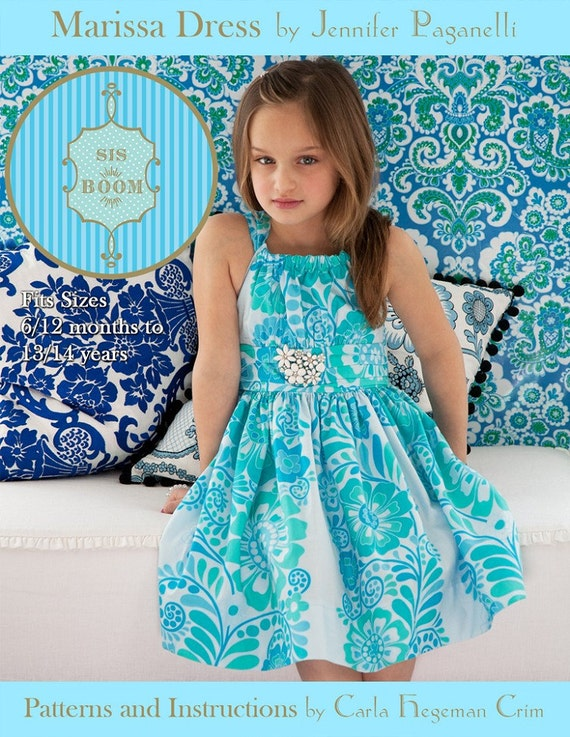 Girls Dress Pattern - Sis Boom Marissa Dress, PDF E-Book