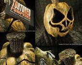 Papier Mache Pumpkin 019 Topper
