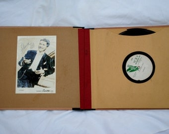 LIBERACE - Signed Autographed - Custom 78 dub WRS Records - Photo - Piano - Collectible - OOAK - 1950s