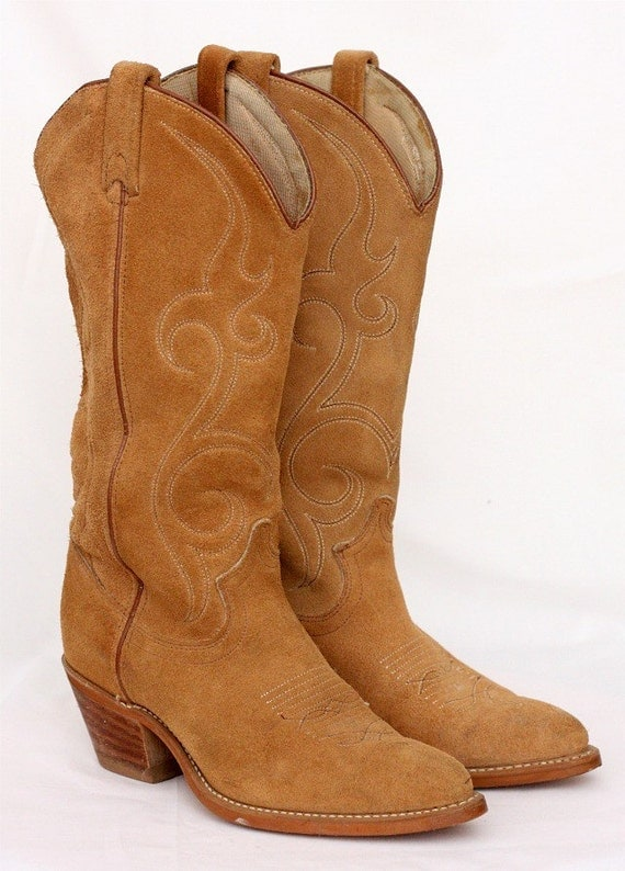 Tan Cowgirl Boots - Cr Boot