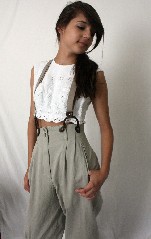 Reserved High Waist Pants Suspenders Annie Hall By Kimvintage