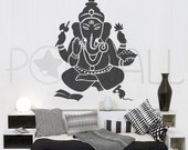 Ganesha Wall decal - The remover of obstacles, indian god Wall decal wall sticker Vinyl Art - Home decor, wall decor - 057