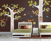 Children Wall decal wall sticker -Animal Friends tree decal wall decal - 081