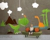 Children Wall Decal Wall Sticker Nursery Decal Dinosaur decal-  Dino Land - 078