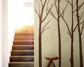 Vinyl Wall Art Sticker Wall Decal - Winter Tree decal -wall decals 084
