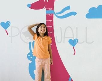 Kangaroo Wall Decal, Rabbit Wall decal-  Kids, Children ,Growth Charts Wall Decal Wall Sticker