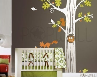 Animal wall decal tree wall decal Wall sticker children wall decals - 083