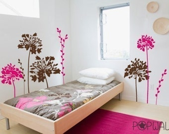 Vinyl Wall Decal  - NEW DESIGN Flower Gathering - 067