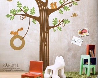 Wall decals Wall stickers - Animal Friends in Woodland - 082 children nursery playroom