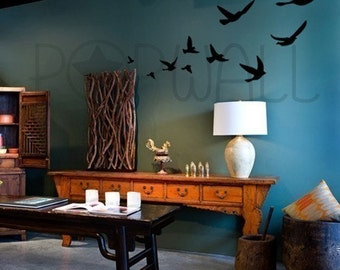 Vinyl Wall Art Decal -Flying Birds  - 008