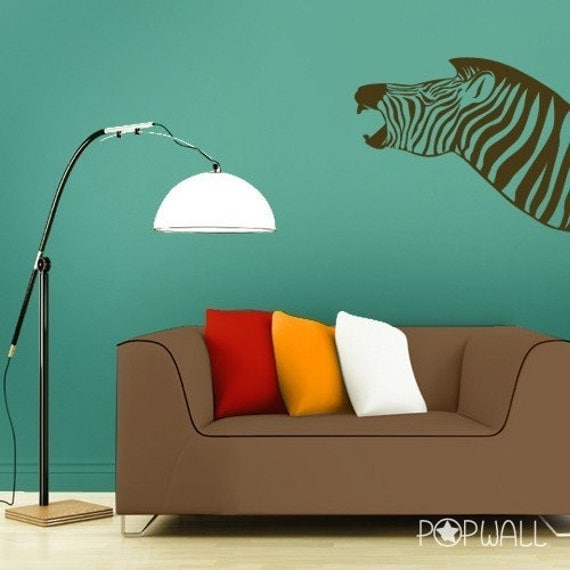 Zebra Wall decal animal wall decals wall sticker -  050