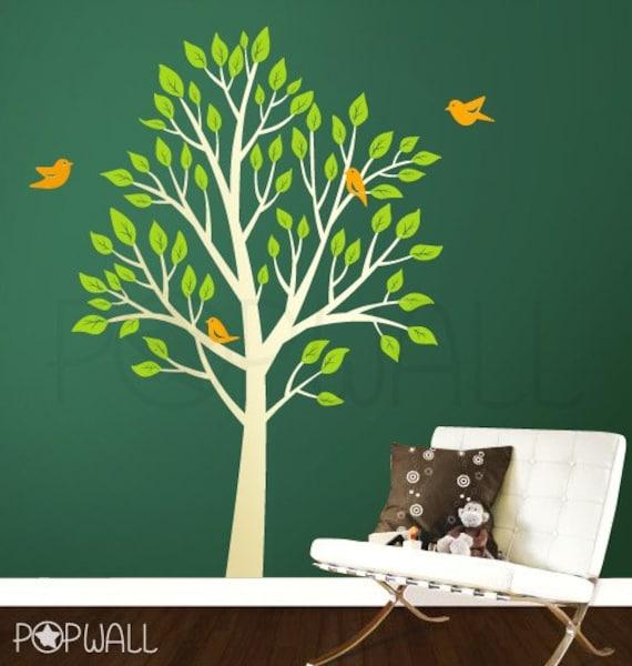 NEW DESIGN Garden Tree with Birds ( Large) - 056  Vinyl Wall Sticker Decal