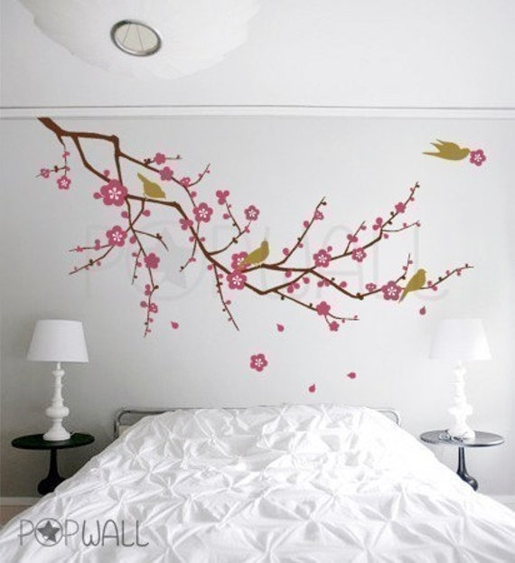 Vinyl Wall Sticker Decal Art Cherry Blossom Tree Branch With