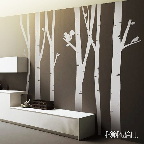 Unavailable listing on etsy for Birch tree wall mural