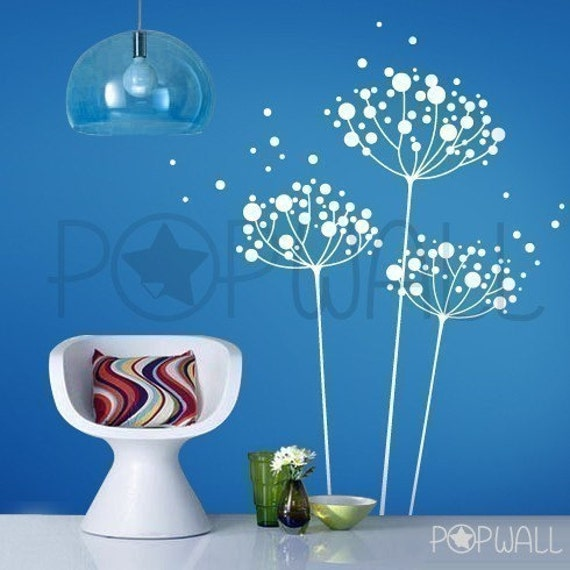 Removable Vinyl Wall Decal Sticker Art -Dandelions -  017