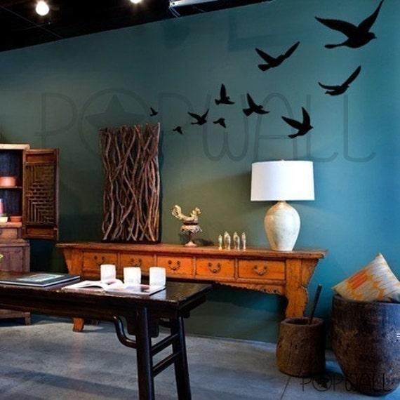 Vinyl Wall Art Decal -Flying Birds  - 008