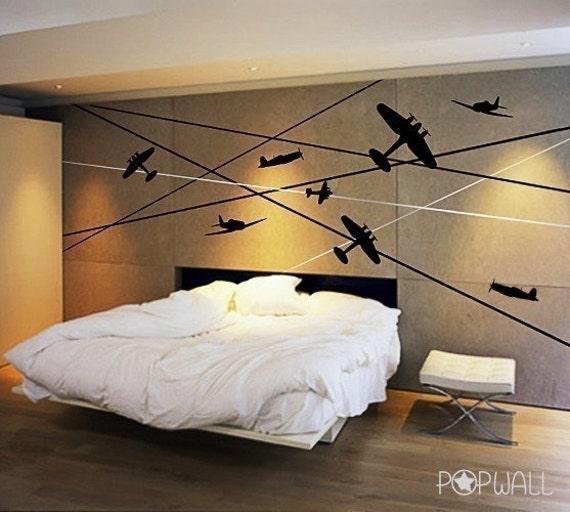 Aircraft Battle Planes Wall Decal ,children Wall Decal Wall Sticker Vinyl Art, Wall Graphic 011-