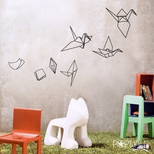 Paper Bag Wall Decor : Vinyl wall sticker decal art paper evolving into by nouwall