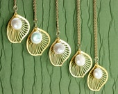 Bridesmaid Gifts Leaf Gold Filled Custom Made Necklaces