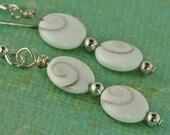 Shiva Shell Sterling Silver Earrings
