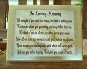 Custom Wood Sign In Loving Memory.  Handmade and Hand Painted Wood Signs