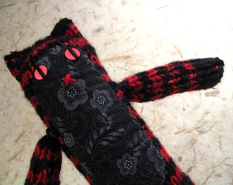 Red and Black Striped Knitty Kitty