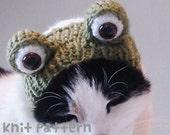 knitting pattern - frog pet costume