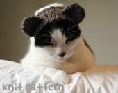 knitting pattern - teddy bear pet hat - halloween costume cat knit amigurumi kawaii small dog chihuahua disguise - (instant download)