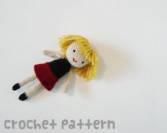 CROCHET PATTERN - Amigurumi Dolly - PDF Instant Download - Baby Shower Gift
