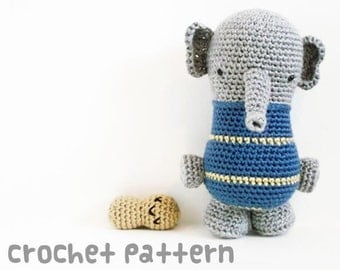 crochet pattern - elephant amigurumi - circus animal plushie stuffed animal kawaii baby shower gift - (instant download)