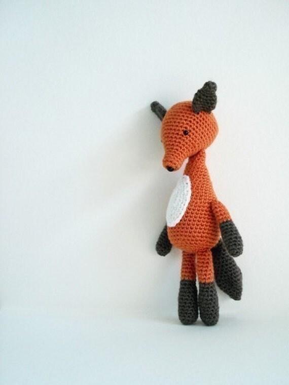 crochet pattern - fox