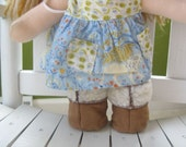 Cozy Chestnut Doll Boots
