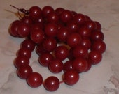 Dark Red Round Buri Beads