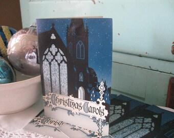 Vintage Christmas Carol Song Book Set of 4  Caroler's Pamphlet Holiday Music Religious Music Book, Emphera Booklet Caroling