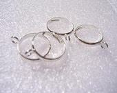 Bag of 4 silver plated adjustable rings