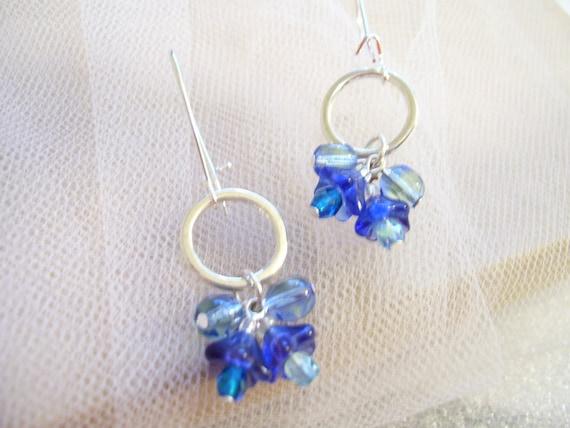 Cornflower Silver Earrings