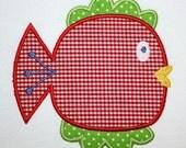 117 Fish Machine Embroidery Applique Design