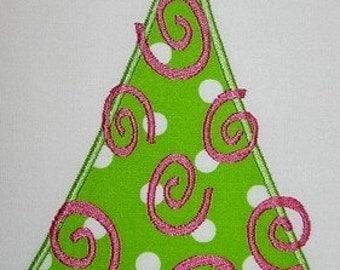 033 Swirly Tree Machine Embroidery Applique Design