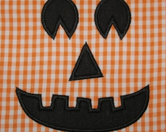 020 Jack-o-lantern Pumpkin Face Applique Design