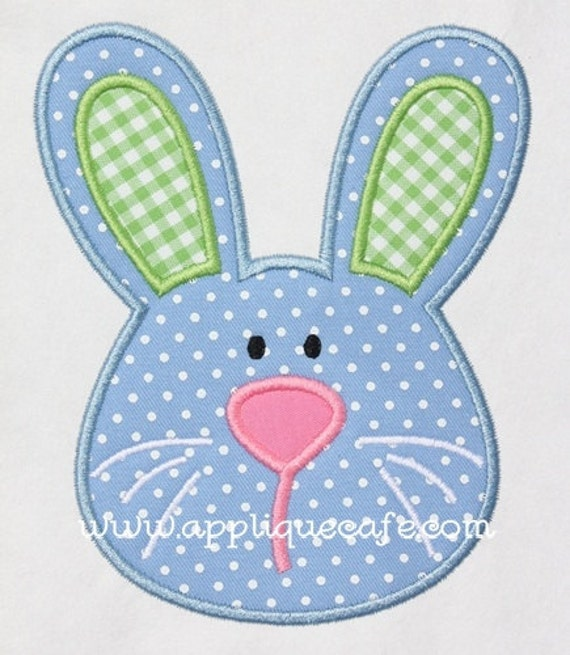 Boy bunny machine embroidery applique design